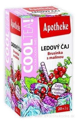 APOTHEKE COOLTEA Brusnica a malina Ľadový čaj, ovocná zmes v nálevových vreckách 20x2 g (40 g)