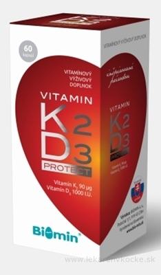 BIOMIN VITAMIN K2 + D3 PROTECT cps 1x60 ks