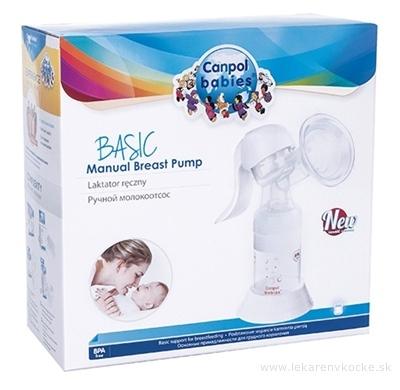 Canpol Babies BASIC Manuálna odsávačka materského mlieka, 1x1 set