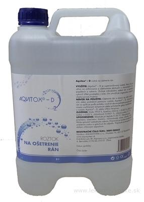 AQVITOX-D prostriedok na ošetrenie rán, roztok v bandaske 1x5 l