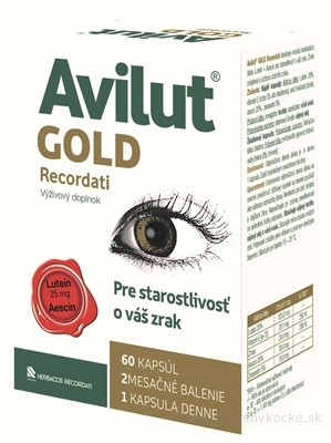 AVILUT Gold Recordati cps 1x60 ks