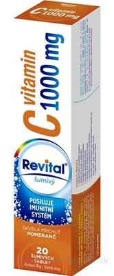 Revital vitamín C 1000 mg šumivý tbl eff s príchuťou pomaranč 1x20 ks