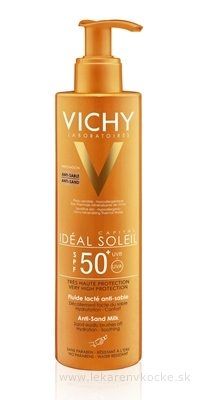 VICHY IDEAL SOLEIL Anti-Sand SPF 50+ R17 opaľovacie mlieko (pumpička) (M9153800) 1x200 ml