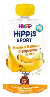 HiPP HIPPis SPORT Hruška Pomar. Mango Banán Ryža kapsička (od 1.roku) ovocný príkrm 1x120 ml