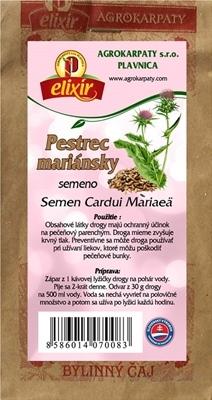 AGROKARPATY PESTRÉC MARIÁNSKY semeno bylinný čaj 1x100 g