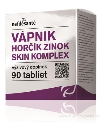nefdesanté VÁPNIK HORČÍK ZINOK SKIN KOMPLEX tbl 9x10 (90 ks)