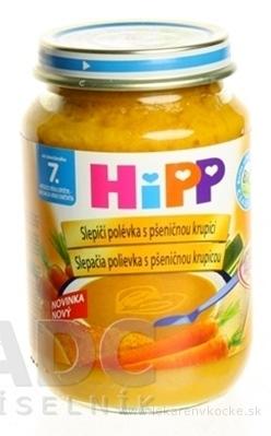 HiPP Polievka BIO Slepačia s pšeničnými krúpami (od ukončeného 7. mesiaca) 1x190 g
