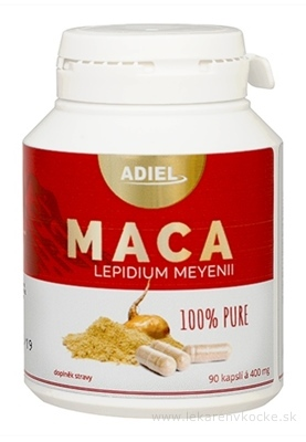 ADIEL MACA 100% Pure cps 400 mg 1x90 ks