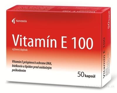 Noventis Vitamín E 100 cps 2x25 ks (50 ks)