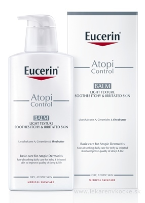 Eucerin AtopiControl Ľahká telová emulzia pre suchú pleť 1x400 ml