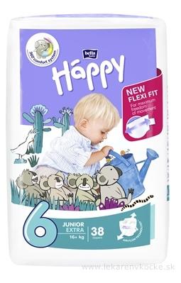 bella HAPPY 6 JUNIOR EXTRA detské plienky (16+ kg) 1x38 ks