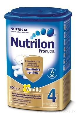 Nutrilon 4 Pronutra Vanilla batoľacia mliečna výživa v prášku (od ukonč. 24. mesiaca) 1x800 g