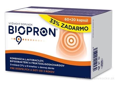 BIOPRON 9 cps 60+20 (33% zdarma) (80ks)