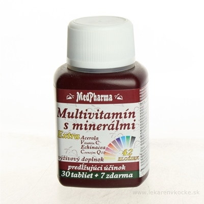 MedPharma MULTIVITAMIN S MINERÁL. EXTRA 42 ZLOŽIEK tbl 30+7 zadarmo (37 ks)