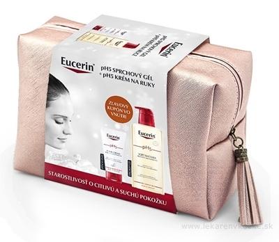 Eucerin pH5 Kazeta sprchový gél 400 ml + krém na ruky 75 ml v taštičke (Vianoce 2020) 1x1 set