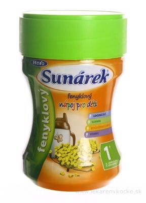 Sunárek instantný nápoj feniklový (od ukonč. 1. týždňa) 1x200 g
