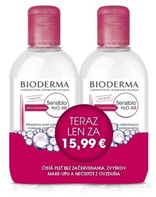 BIODERMA Sensibio H2O AR FESTIVAL micelárna pleťová voda na citlivú pleť 2x250 ml (akciová cena), 1x1 set