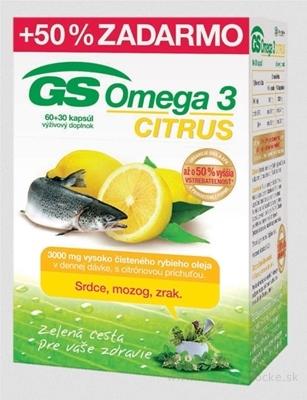 GS Omega 3 CITRUS 2015 cps 60+30 (50% zadarmo) (90 ks)