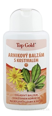 TOP GOLD Arnikový balzam s kostihojom chladivý 1x200 ml
