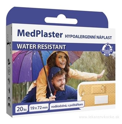 MedPlaster Náplasť WATER RESISTANT 19x72 mm, s vankúšikom 1x20 ks