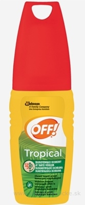 OFF! TROPICAL rozprašovač (pump spray), repelent 1x100 ml