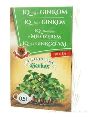 HERBEX IQ ČAJ S GINKOM bylinný čaj 20x3 g (60 g)