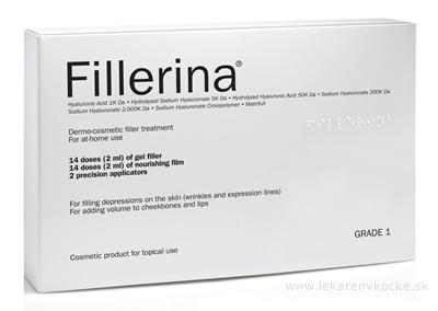 Fillerina Dermo-cosmetic Filler Treatment Grade 1 dermokozmetické ošetrenie gel 14x2 ml + emulzia 14x2 ml + 2 aplikátory, 1x1 set