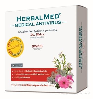 HERBALMED MEDICAL Antivirus - Dr.Weiss bylinné pastilky 1x20 ks