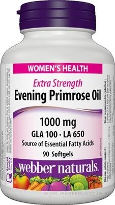 Webber Púpalka Dvojročná 1000 mg (Naturals Evening Primrose Oil) cps 1x90 ks