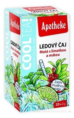 APOTHEKE COOLTEA Maté s limetkou a mätou Ľadový čaj, ovocná zmes v nálevových vreckách 20x2 g (40 g)