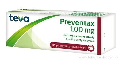 Preventax 100 mg tbl ent (blis. Al/PVC) 5x10 ks