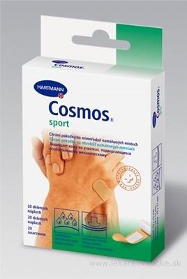 COSMOS Na šport náplasť na rany flexibilná (1,9cmx7,2cm) 1x20 ks