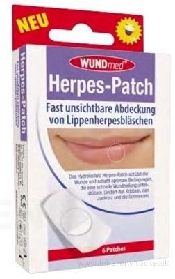 WUNDmed Náplasť na herpes 1x6 ks