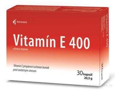 Noventis Vitamín E 400 cps 2x15 ks (30 ks)