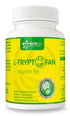 NUTRICIUS L-TRYPTOFAN + vitamín B6 tbl 1x60 ks