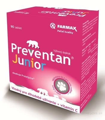 FARMAX Preventan Junior + vitamín C tbl 1x90 ks