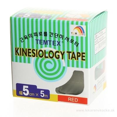 TEMTEX KINESOLOGY TAPE tejpovacia páska, 5 cm x 5 m, ružová 1x1 ks