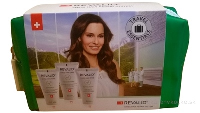 Revalid Travel Set Proteínový šampón 30 ml + Kondicionér 30 ml + Repair Mask 30 ml, 1x1 set