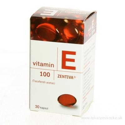 VITAMIN E 100-ZENTIVA cps mol 100 mg (fľ.skl.) 1x30 ks