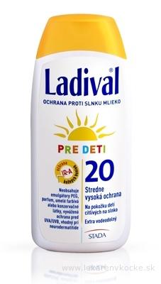 Ladival PRE DETI SPF 20 mlieko na ochranu proti slnku 1x200 ml