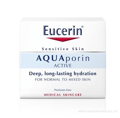 Eucerin AQUAporin ACTIVE Krém pre normálnu, zmiešanú pleť a citlivú pokožku 1x50 ml
