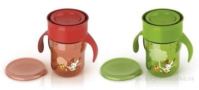 AVENT HRNČEK prvý dospelácky 260 ml (0% BPA) zelený/červený, 1x1 ks