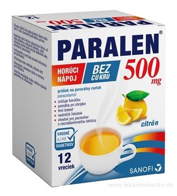 PARALEN horúci nápoj bez cukru 500 mg plo por vrecúška 1x12 ks