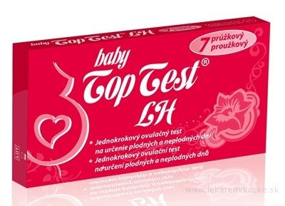 Baby Top Test LH ovulačný - 7 prúžkový jednokrokový 1x7 ks