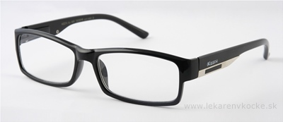American Way okuliare na čítanie FLEX čierne s kovovým doplnkom +1.50, 1x1 ks