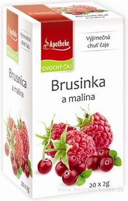 APOTHEKE PREMIER SELECTION ČAJ BRUSNICA A MALINA 20x2 g (40 g)