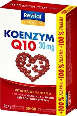 Revital KOENZÝM Q10 30 mg + VITAMÍN E + SELÉN cps 30+30 (100% zadarmo) (60 ks)