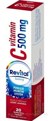 Revital vitamín C 500 mg šumivý tbl eff s príchuťou lesná jahoda 1x20 ks