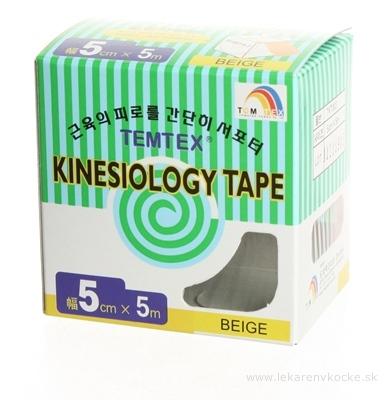 TEMTEX KINESOLOGY TAPE tejpovacia páska, 5 cm x 5 m, béžová 1x1 ks