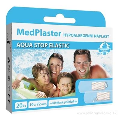 MedPlaster Náplasť AQUA STOP ELASTIC 19x72 mm, vodeodolná s vankúšikom 1x20 ks